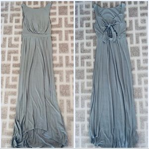 Miss Selfridge Sz 4 Khaki Maxi Dress New
